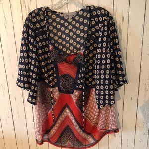 3 for $25! Valerie Stevens boho blouse